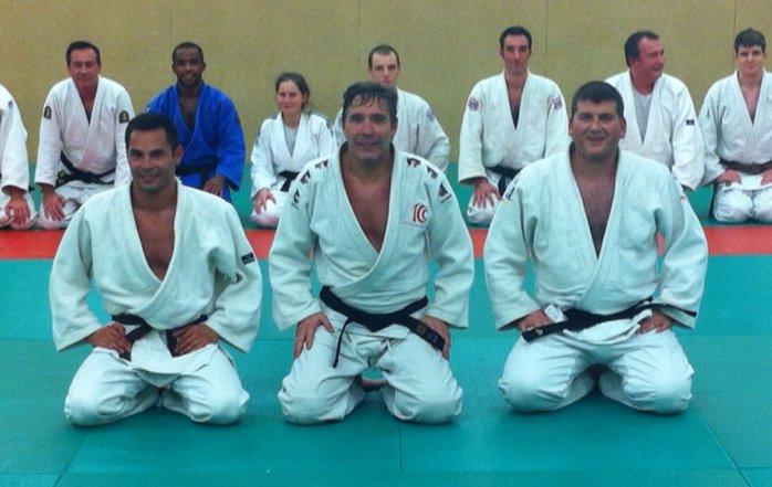 Dominique Demichel entouré d'Alexander Fontaine à gauche et de Jean-Marc Pace à droite