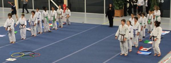 Démonstration Judo Club Charenton lors du Trophées du Sport