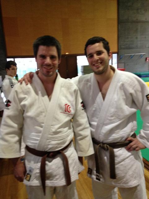 Denis Safieddine et Guillaume Gacoin lors de leur passage du Nage No Kata