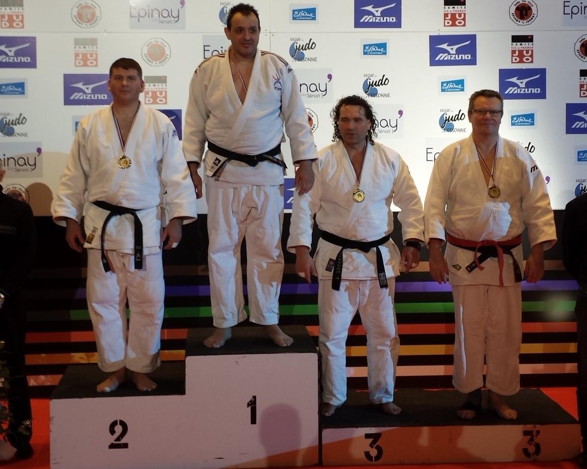 Podium Jean-Marc Pace au Master Vétérans d'Epinay sous Sénart ce dimanche en catégorie M5 +100kg