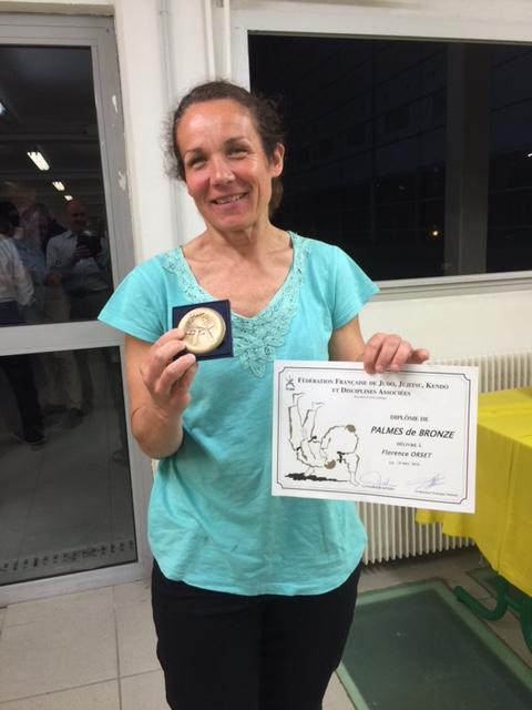 Florence Orset Palmes de bronze de la Fédération Française de Judo