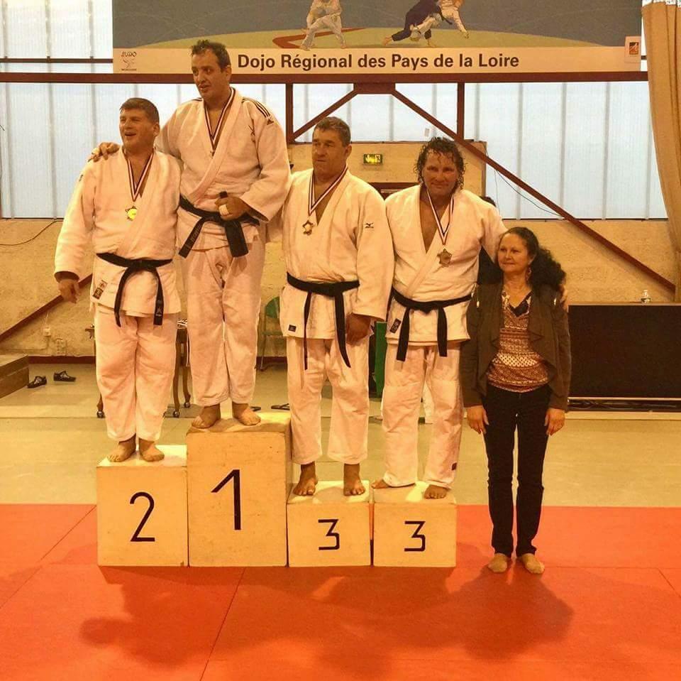 Podium : Jean-Marc Pace, médaille d'argent aux  Masters Vétérans  de l'Anjou à Angers le 10 décembre 2016 en catégorie M5 + 100kg